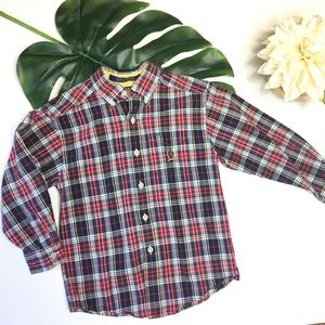Tommy Hilfiger Boys 5 Plaid Button up Shirt boy005